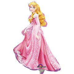 Balon mini figurina Frumoasa Adormita Disney - 23cm + bat si rozeta, Amscan 28476