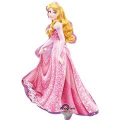 Balon mini figurina Frumoasa Adormita Disney - 23cm, umflat + bat si rozeta, Amscan 28476