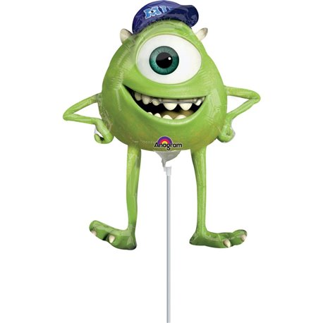 "Monsters Inc Monsters University Mike Mini Foil Balloons on Sticks, Amscan, 9"", 26334"