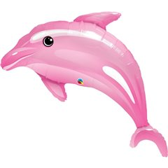 Balon Mini Folie Figurina Delfin Roz, Qualatex, 36 cm, 32941