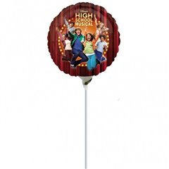 Balon mini folie High School Musical 23cm, umflat  + bat si rozeta, Amscan 15113