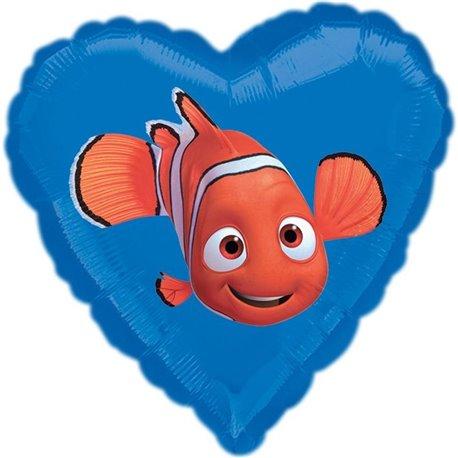 Balon Mini Folie Inima Nemo, 23037ST