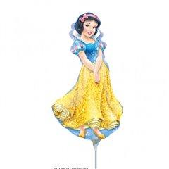 Balon mini folie Alba ca Zapada - 23cm + bat si rozeta, Anagrm 28477