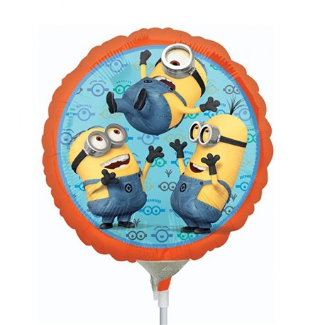 Balon Mini Folie Minion, Amscan, 23 cm, 29956