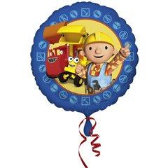Balon mini folie Bob The Builder - 23cm + bat si rozeta, Amscan 24718