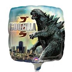 Balon mini folie Godzilla - 23cm + bat si rozeta, Amscan 28968