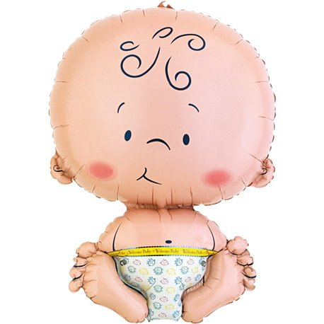 "Welcome Baby Shape Foil Balloon, Amscan, 22"", 65408"