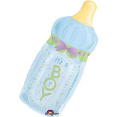 "Baby Shower Balloon - It's a Boy Baby Bottle, Amscan, 31"", 14254"