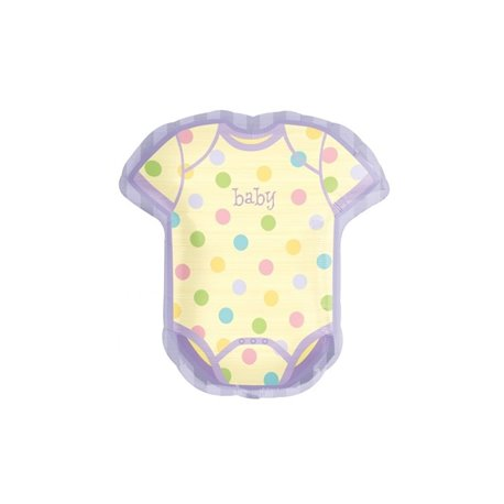 "Baby Things Onesie Shape Foil Balloon, Amscan, 22"" x 24"", 114536"