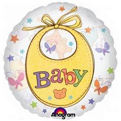 Balon folie figurina Precious Baby transparent - 66cm, Amscan 2008601