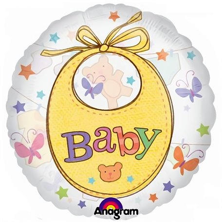 "Precious Baby Clothesline See-Thru 26"" Shape Foil Balloon, Amscan 2008601"