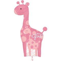Balon Folie Figurina Girafa Baby Girl, Amscan, 25181