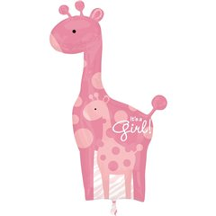 "Safari Baby Girl Giraffe - Baby Shower Balloon, Amscan, 25""x 42"", 25181"