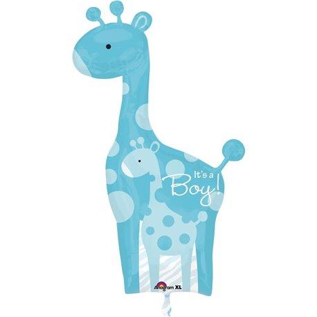 "Baby Shower Balloon-Blue Wild Safari It's a Boy, Amscan, 25"" x 42"", 24583"