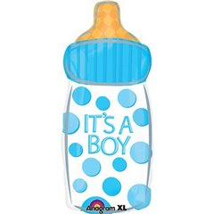 "It's a Boy Baby Bottle Junior Shape Foil Balloon, Amscan, 26"", 26802"