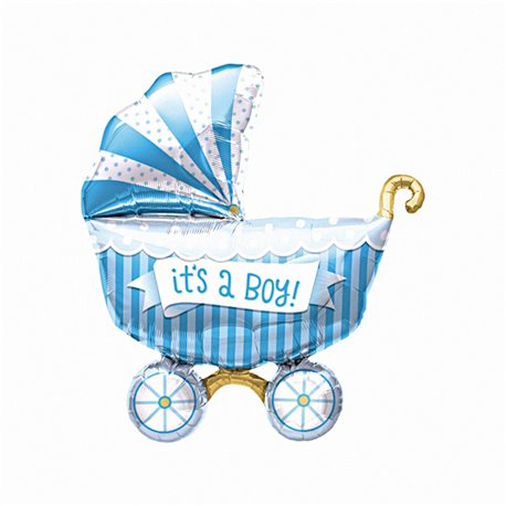 "It's a Boy Buggy Helium Foil Balloon - 40""/102cm, NB01019"