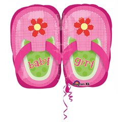 "Baby Girl Pretty Pink Shoes Mini Shape, Amscan, 9"", 28815"