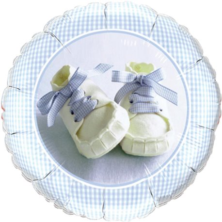 Balon Folie 45 cm Baby Boy Shoes, Qualatex 81835