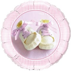 """Baby Girl Shoes Foil Balloon, Qualatex, 18"""", 81832"""