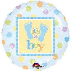 """Balon Folie 45 cm """"It's a boy"""", Amscan 111056-01"""
