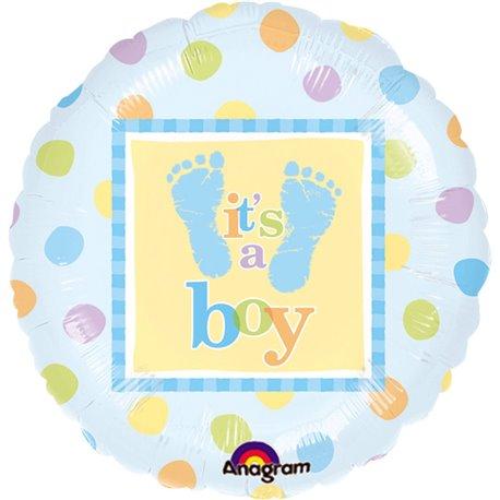 "Baby Steps Foil Balloon - 18""/45cm, Amscan 111056-01"