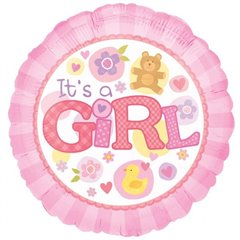 "Balon folie 45cm ""It's a Girl"", Amscan 15821"