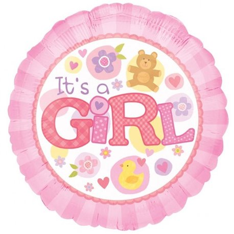 "It's a Girl Foil Balloon - 18""/45cm, Amscan 15821"