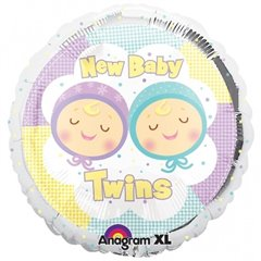 Balon folie 45cm New Baby Twins, Amscan 19339