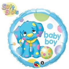 Balon Folie 45 cm Catelus Baby Boy, Qualatex 40521