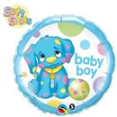 Balon Folie 45 cm Catelus Baby Boy, Qualatex 40521