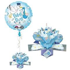 Balon folie 45cm Baby Boy cu Decor 3D, Amscan 27188