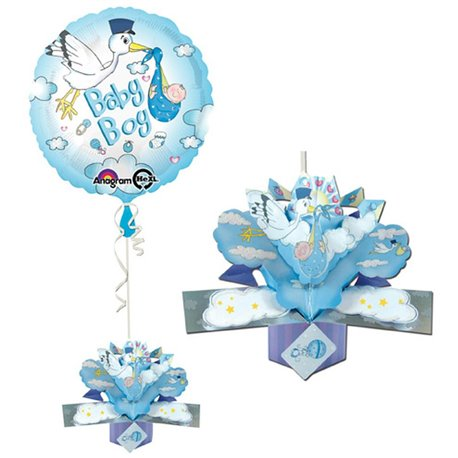 Balon Folie 45 cm Baby Boy cu Decor, Amscan 27188