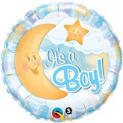 Balon Folie 45 cm It's a Boy Moon, Qualatex 28830