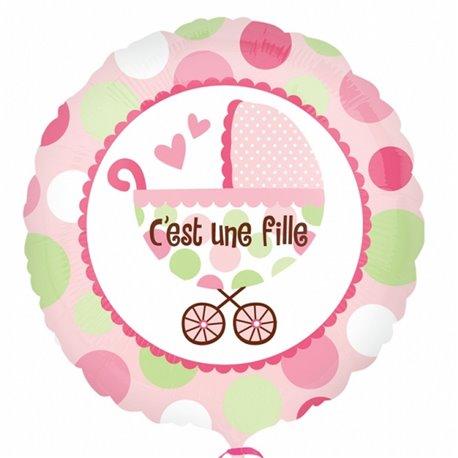 """C'est une Fille Foil Balloon, Amscan, 18"""", 21990"""