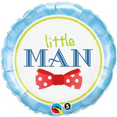 "Little Man Bow Tie Foil Balloon, Qualatex, 18"", 13958"
