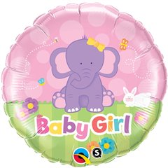 "Baby Girl Foil Balloon, Qualatex, 18"", 13929"