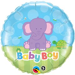 "Baby Boy Elephant Foil Balloon, Qualatex, 18"", 13916"