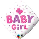 "Baby Girl Butterfly Foil Balloon, Qualatex, 18"", 14659"