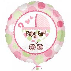 "Balon Mini-Folie Baby Girl Buggy - 4""/10cm, Amscan 2212902"