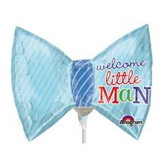 Balon mini figurina papion Little Prince - 23cm, umflat + bat si rozeta, Amscan 2886402