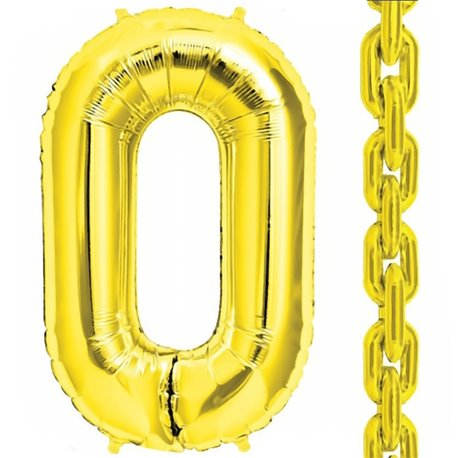 "34""/86 cm Gold Deco Link Shaped Foil Balloons, Northstar Balloons 00833, 1 piece"