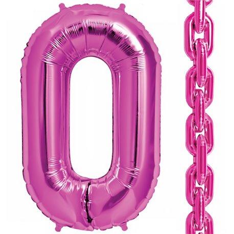 "Balon Folie Magenta in forma de za, 86 cm / 34"", Northstar Balloons 00830, 1 buc"