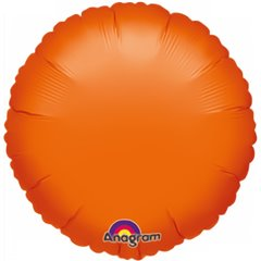 Balon Folie 45 cm uni rotund Orange, Amscan 0456102, 1 buc
