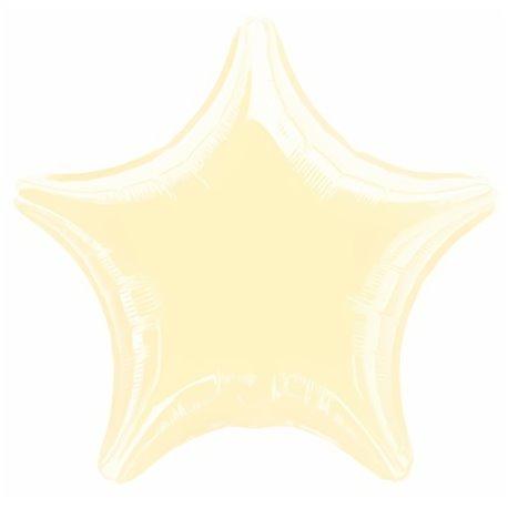 Balon Folie 48 cm Uni, Stea Ivory, Amscan 1110802, 1 buc