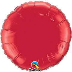 Balon folie metalizat rotund ruby red - 91cm, Qualatex 12681