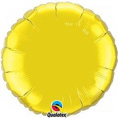 Balon Folie 91 cm Uni Rotund Galben, Amscan 12684, 1 buc