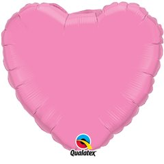 "Metallic Rose Heart Foil Balloon - 18""/45 cm, Qualatex 12891, 1 piece"