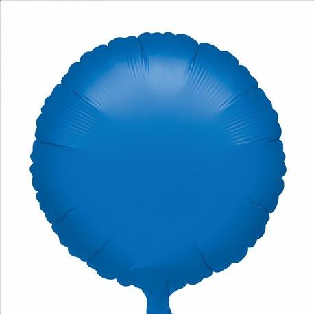Balon folie albastru metalizat rotund - 18 cm, Amscan 24129, 1 buc