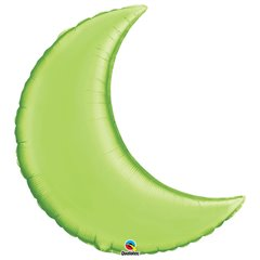"Lime Green Crescent Moon Foil Balloon - 35""/89cm, Qualatex 75159, 1 piece"