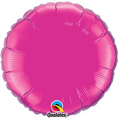 Balon folie magenta metalizat rotund - 45 cm, Qualatex 99336, 1 buc